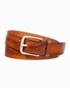 Hand-Stained Italian Leather Belt