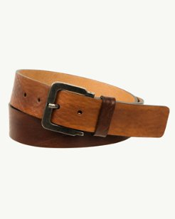 Italian Leather Belt with Hand-Stained Ombré