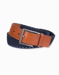 Contrast Stitch Webbed Belt