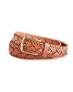 Two-Tone Braided Leather Belt