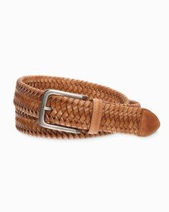 Braided Leather Stretch Belt