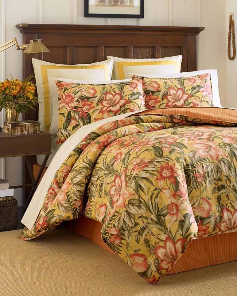 Tropical Lily 4 Piece California King Comforter Set