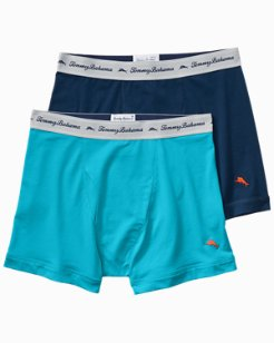 Solid Jersey-Knit Boxer Briefs - 2-Pack