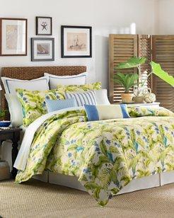 Blue Palm 4-Piece Queen Comforter Set
