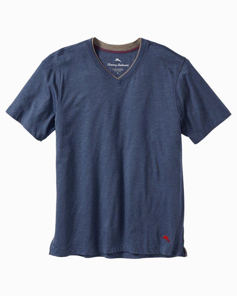 Big u0026 Tall Heathered Cotton u0026 Modal V-Neck T-Shirt