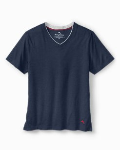 Heathered Cotton V-Neck T-Shirt