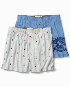 Hula Girls & Floral Boxers - 2-Pack