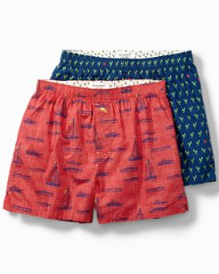 Lobster Claw & Sail Away 2-Pack Boxer Set