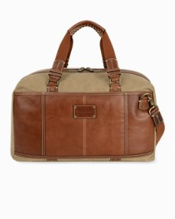 Canvas & Leather Duffel Bag