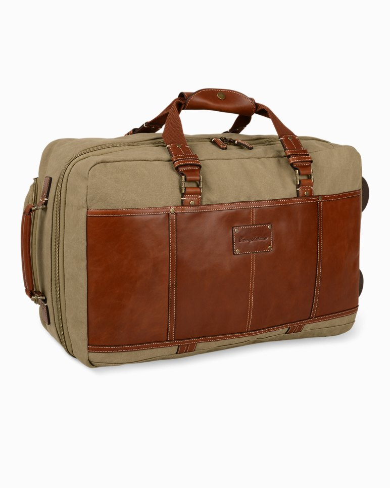 Main Image for Casual Canvas & Leather Upright Rolling Suitcase