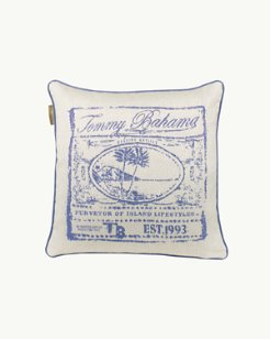 Cobalt Scenic Pillow