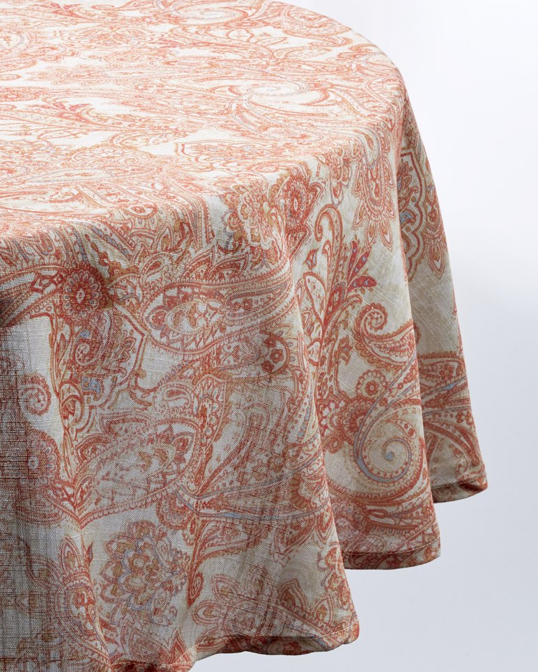 Paisley 70 Inch Round Tablecloth
