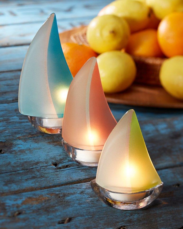 Sailboat Tealight Holders Set Of Three