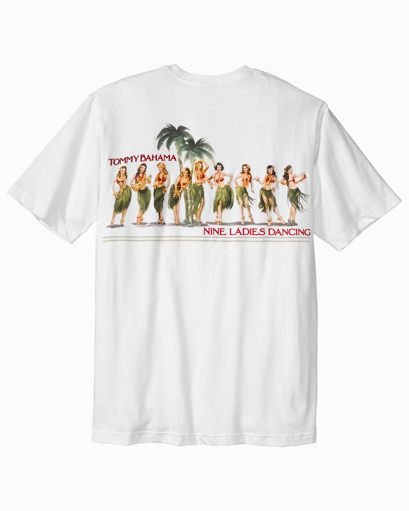 Tommy bahama big tall nine ladies dancing t shirt for Custom tommy bahama shirts
