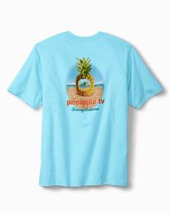 Big & Tall Pineapple TV T-Shirt
