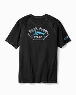 Big & Tall Surf City UV Tech Crewneck T-Shirt