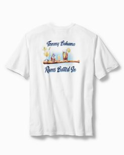 Big & Tall Rums Batted In T-Shirt