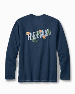 Big & Tall Relax Floral Lux Long Sleeve T-Shirt