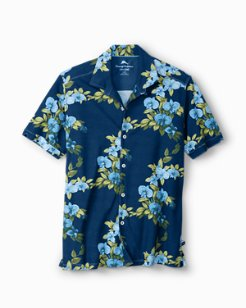 Big & Tall Lanai Lagoon Tropicool IslandZone® Knit Camp Shirt