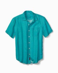 Big & Tall Sea Glass Breezer Linen Camp Shirt