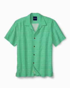 Big & Tall Geo-Rific Jacquard Camp Shirt