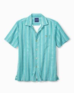 Big & Tall Zaldera Stripe Camp Shirt
