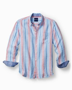 Big & Tall Stripe It While It's Hot Stretch-Linen Shirt