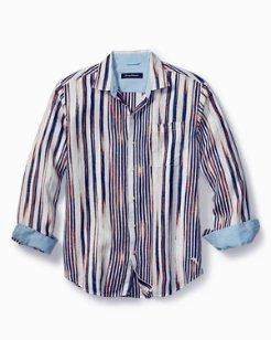 Big & Tall Brush Stroke Breezer Linen Shirt
