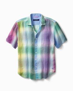 Big & Tall Kaleidoscope Breezer Linen Camp Shirt