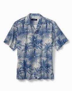 Big & Tall Lindos Palms Camp Shirt