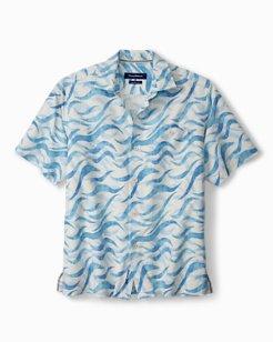 Big & Tall Retsina Waves IslandZone® Camp Shirt