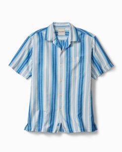 Big & Tall Socrates Stripe Camp Shirt