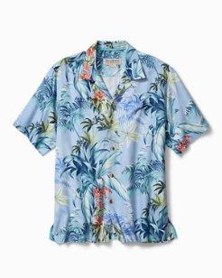 Big & Tall Tropical Falls Camp Shirt
