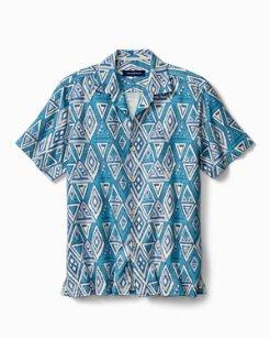 Big & Tall Trio Geo IslandZone® Camp Shirt