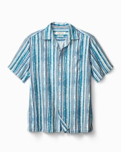 Big & Tall Stripe Me To Paradise IslandZone® Camp Shirt