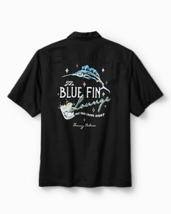 Big & Tall Blue Fin Lounge Camp Shirt