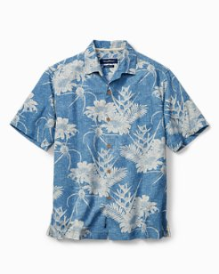 Big & Tall Sand-Torini Blooms IslandZone® Camp Shirt