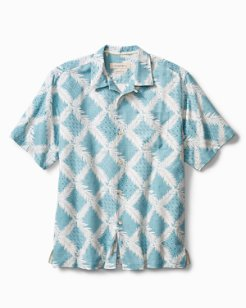 Big & Tall Diamond Getaway IslandZone® Camp Shirt