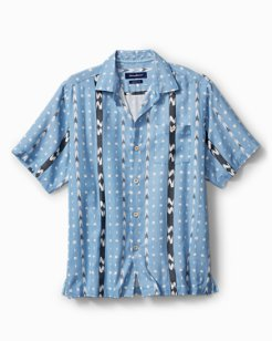 Big & Tall Ikat Don't Stop IslandZone® Camp Shirt