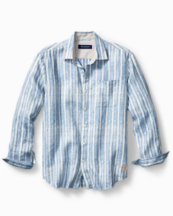 Big & Tall Along Shore Stripe Linen Shirt