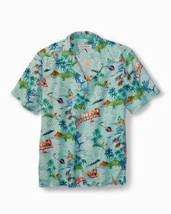 Big & Tall Florida Seas Camp Shirt