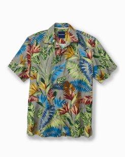 Big & Tall Taza Fronds IslandZone® Camp Shirt