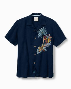 Big & Tall Moonlight Palms Camp Shirt