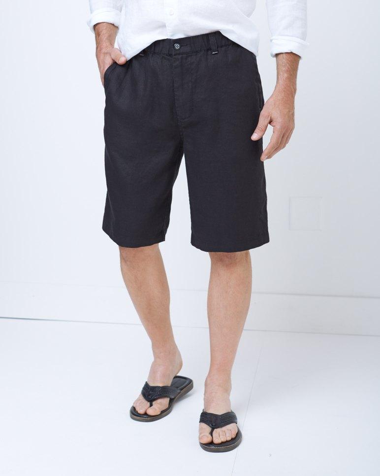 Big Amp Tall Linen Out Loud Elastic Waist Shorts