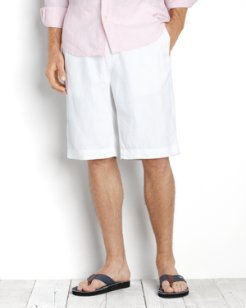 Big & Tall Linen Out Loud Elastic-Waist Shorts