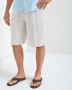 Big & Tall Linen Out Loud Elastic-Waist Shorts