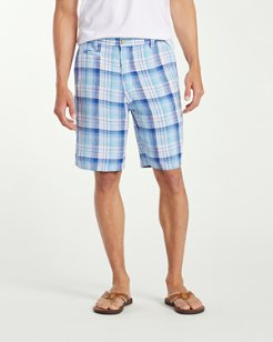 Big & Tall Island Duo 10-Inch Reversible Linen Shorts