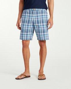 Big & Tall Milos Madras Flat Front Shorts