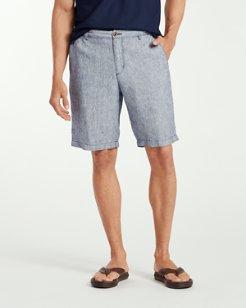 Big & Tall Shoreline Stripe linen Shorts