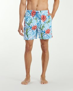 Big & Tall Naples Fira Floral Swim Trunks